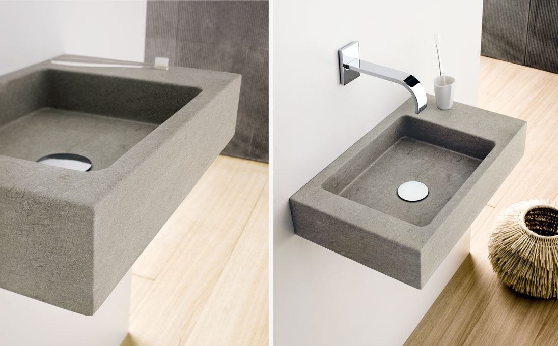 Neutra design mini square washbasin neutra design for Lavabo design