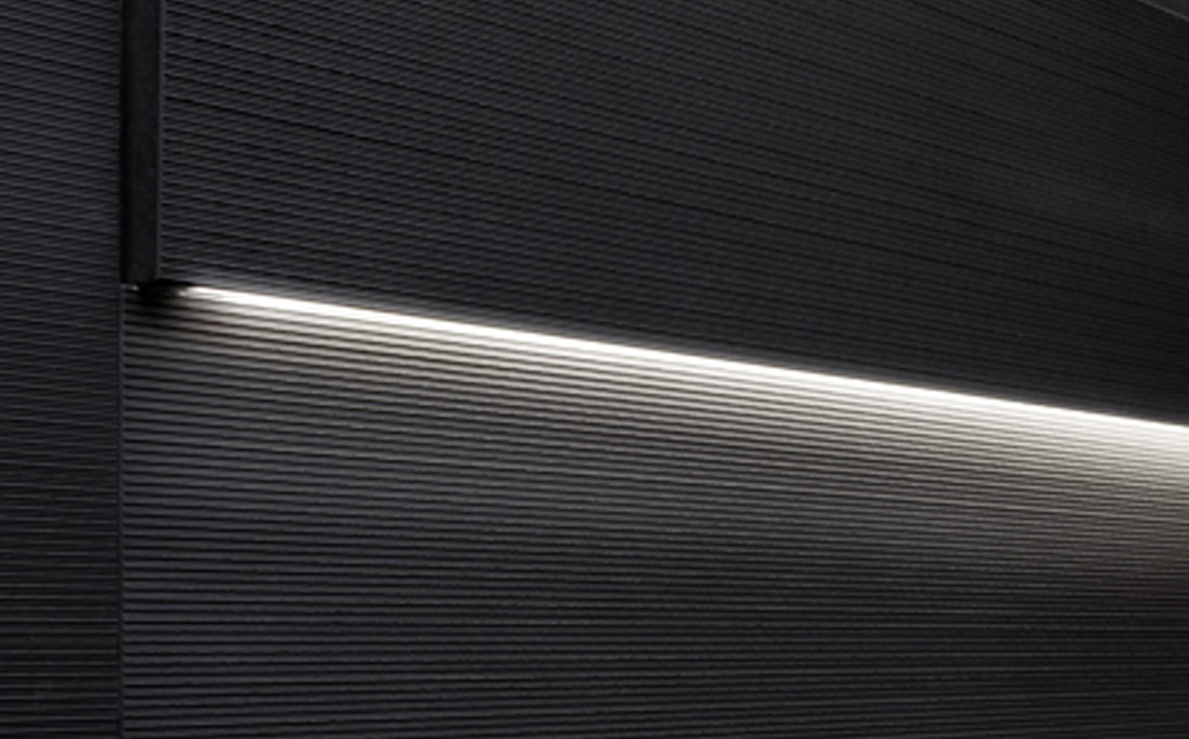 Augmented texture striped led series tiles black rock stone size