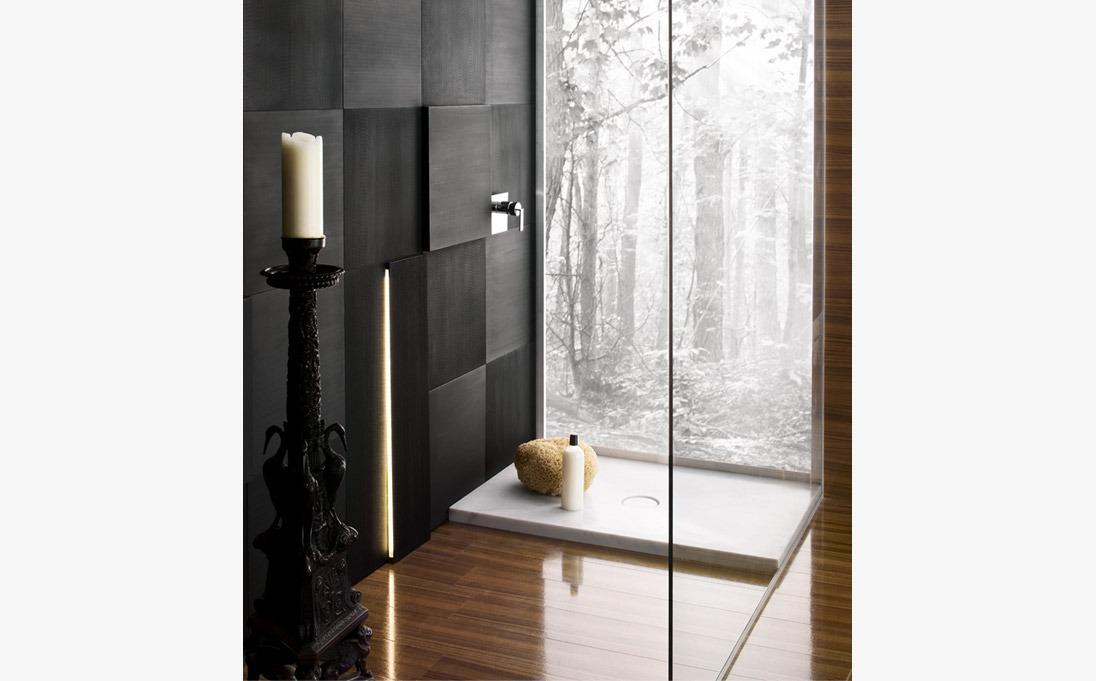Piatto doccia Domino, marmo Bianco Carrara
