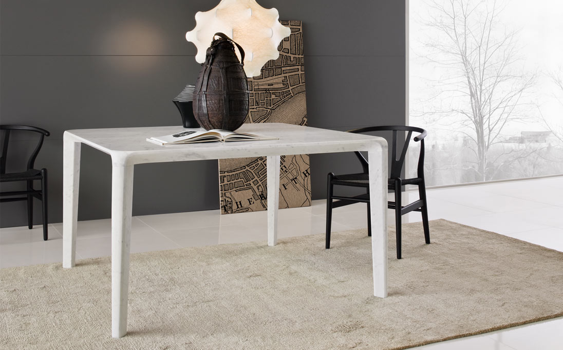Tavolo, marmo Bianco Carrara