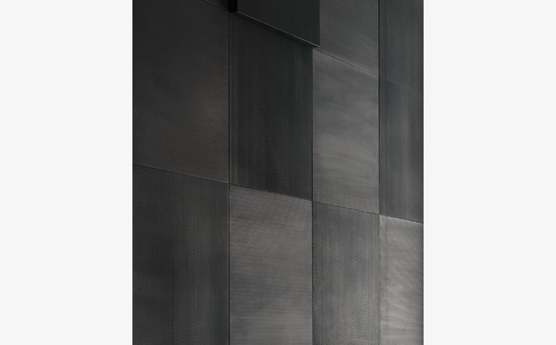 Rivestimento Augmented Texture serie Plain, pietra Black Rock, formato 50x50 cm
