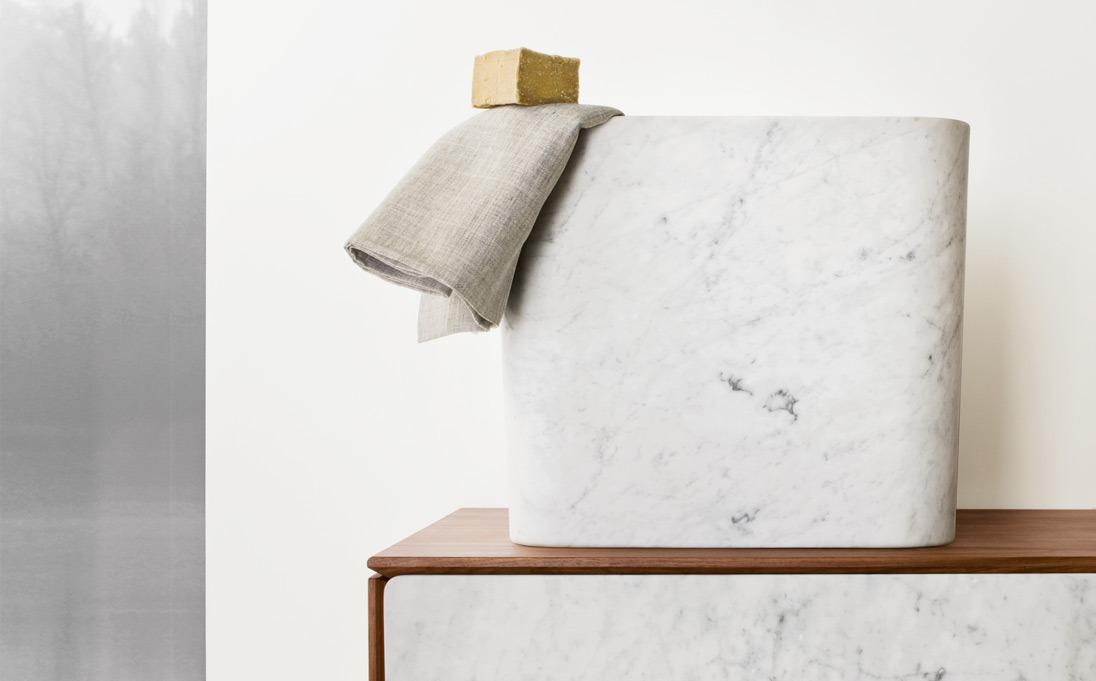 Lavabi d'appoggio Duo, pietra Moon Stone