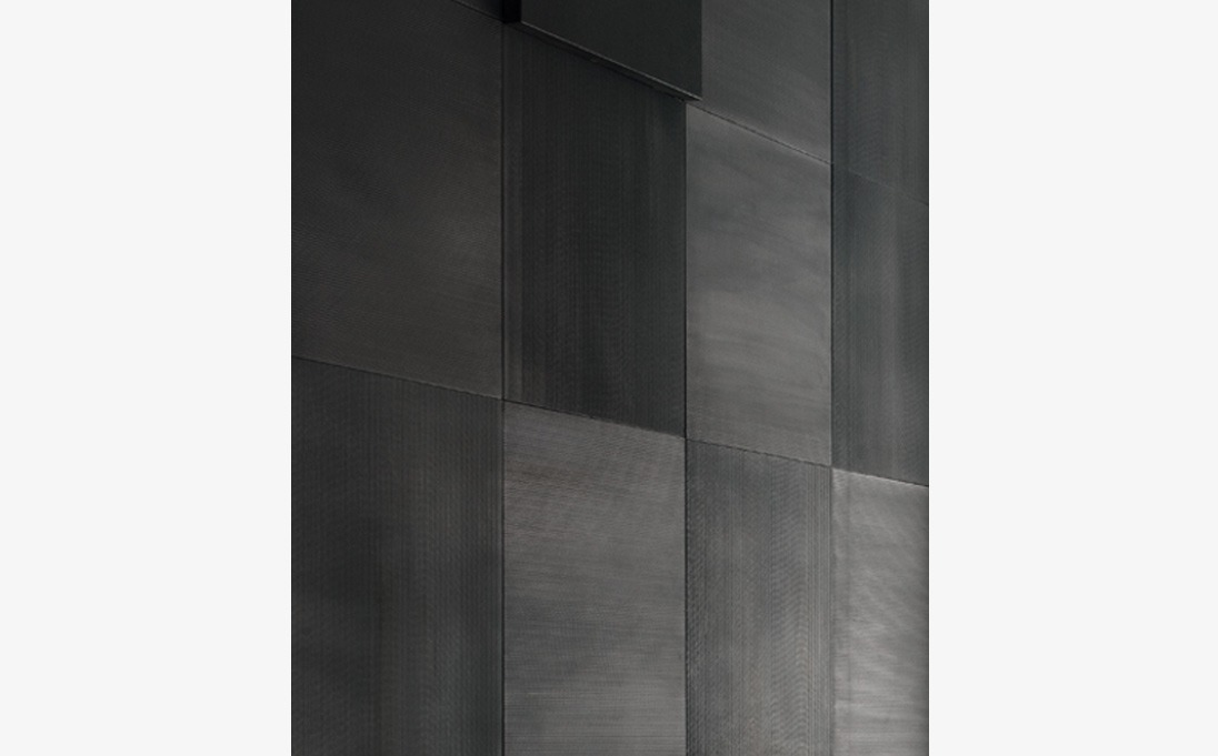 "Augmented Texture Striped Series tiles, Black Rock stone, size 50x50 cm (roughly 24""x24"")"