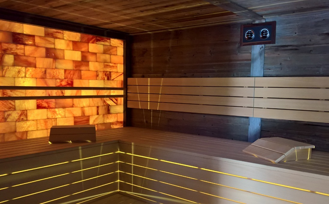 sauna in legno Frassino ed Hemlock